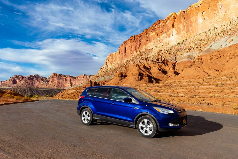 Three Epic Utah Road Trips Our Car At Capitol Reef National Park Mighty 5 Scenic Drive
