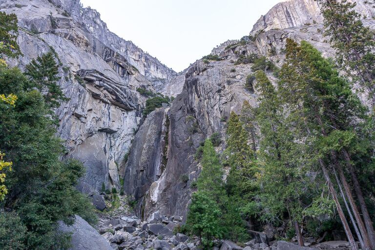 Yosemite Falls completely dry in fall itinerary California