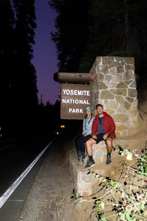 mark kristen Yosemite sign south entrance one two and three day itineraries
