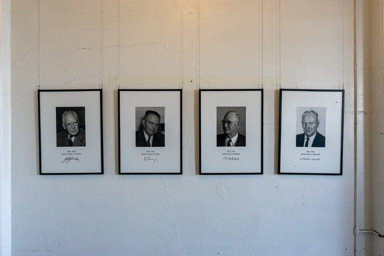Alcatraz former wardens photographs