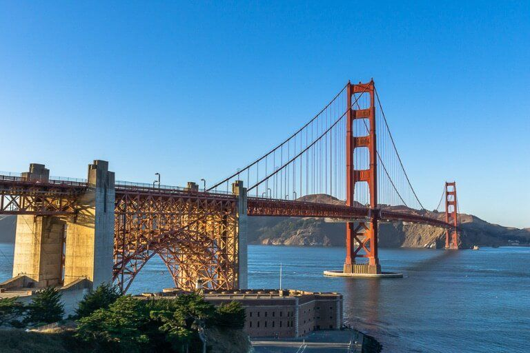 East battery one of the best locations to see the golden gate bridge