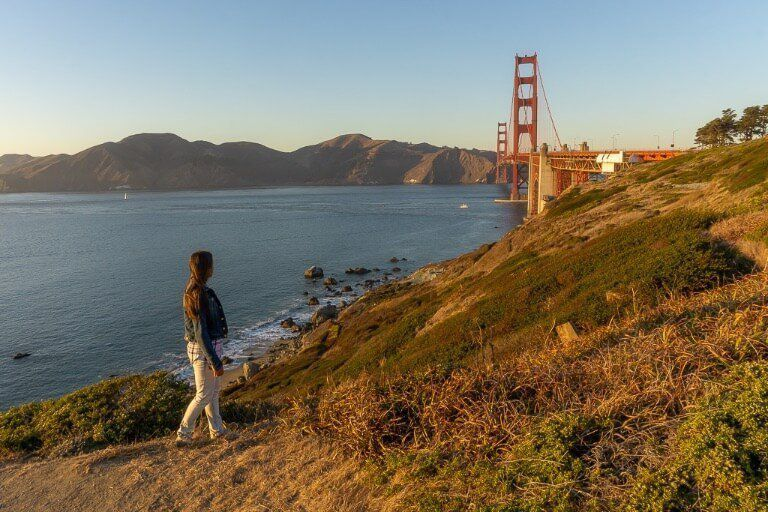 kristen at golden gate bridge San Francisco