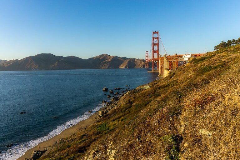 One of the best view points of the golden gate bridge San Francisco west battery