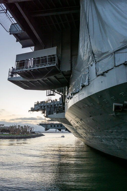 USS Midway museum from backside