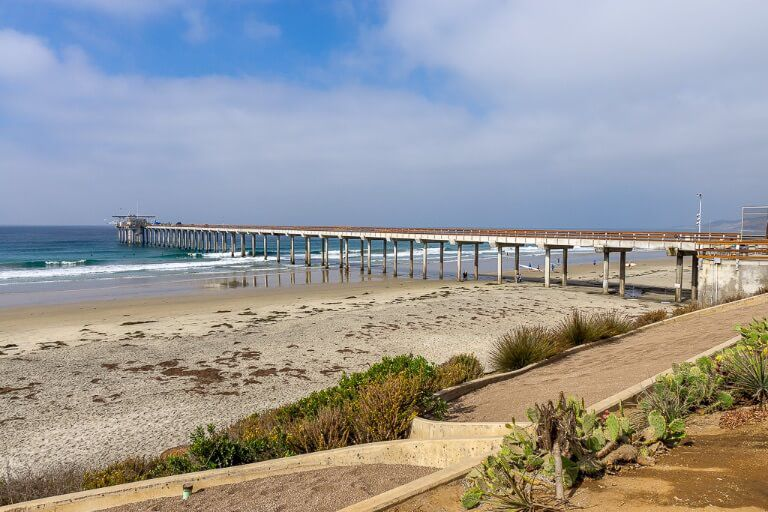 Scripps Pier near La Jolla California
