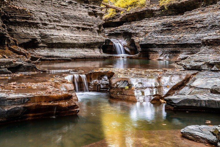 Buttermilk Falls State Park Photography Fall colors foliage yellows