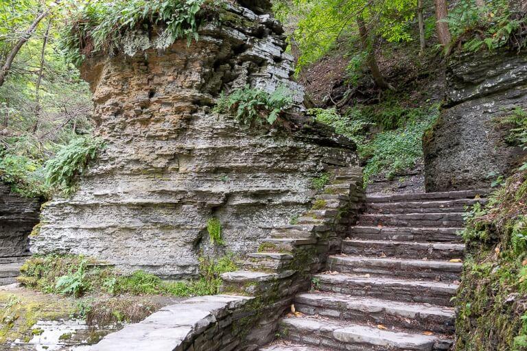 Pinnacle Rock sandstone formation in creek