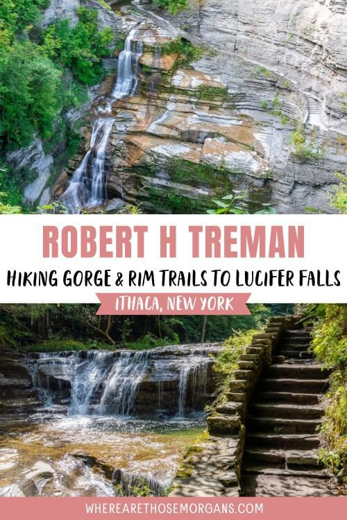 Robert H Treman Hiking Gorge and Rim trails to Lucifer Falls Ithaca State Park New York Finger Lakes