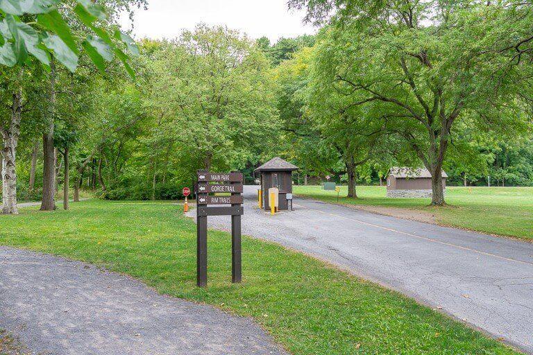 Entrance to state park near Ithaca ny