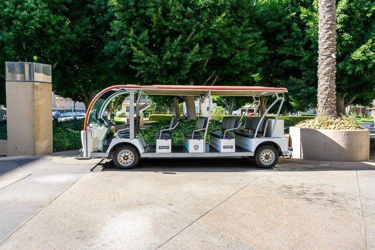 Tour carts for 10 guests at Warner Bros studio