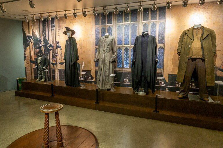Harry Potter characters costumes at Warner Bros studio tour in Hollywood Los Angeles