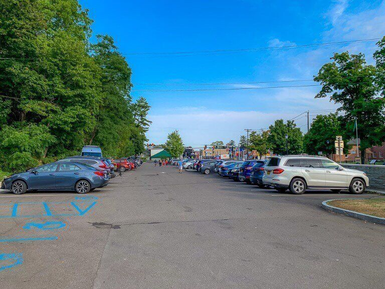 Parking lot right at the entrance to finger lakes park ny