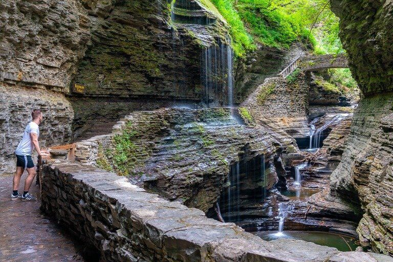 Mark where are those morgans at Rainbow Falls gorge trail Watkins Glen State park New York