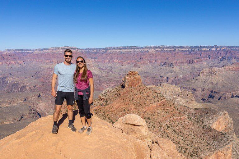 Mark and Kristen Where Are Those Morgans hiking in Grand Canyon National Park Arizona