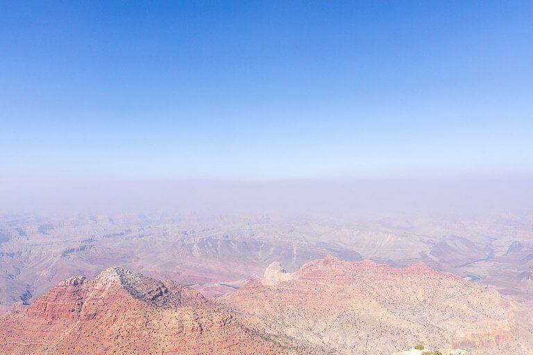 Strange mist and cloud engulfing canyon in Arizona