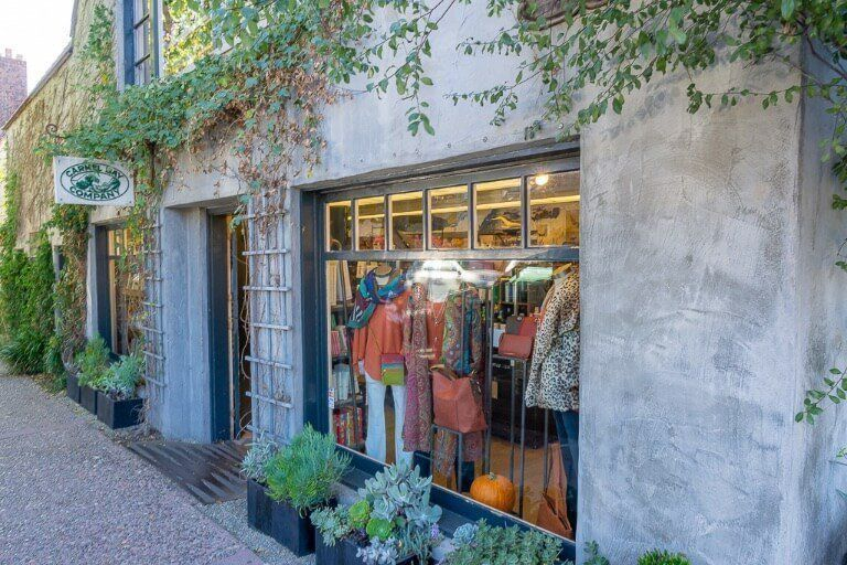 Shopping in stunning buildings in Carmel-by-the-sea village beautifully kept and one of the nicer stops on California's pacific coast highway