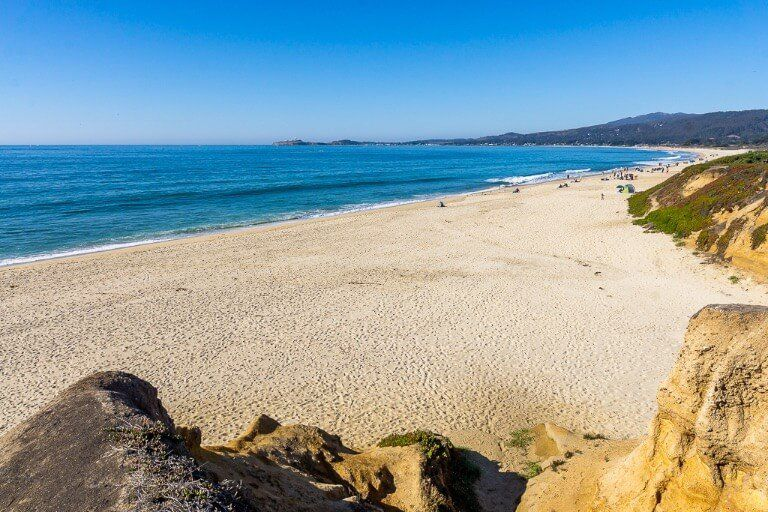 Half Moon Bay state beach 4 miles of golden sand on the pacific coast near San Francisco