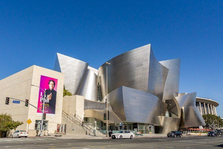 Downtown LA is full of museums and performing arts like the way Disney concert hall
