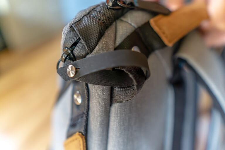 Zipper safety as looped through a security loop on top of bag theft prevention