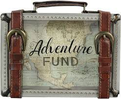 Travel adventure savings suitcase nice gift idea for the traveler in your life