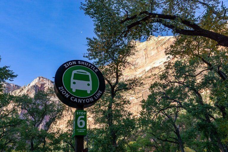 Shuttle Stop #6 the Grotto Utah