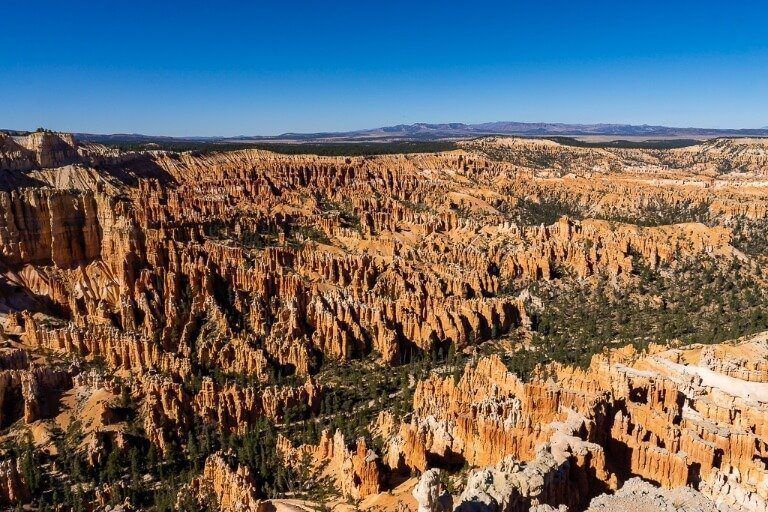 Amazing photography at bryce canyon scenic overlook bryce point entire canyon in valley below
