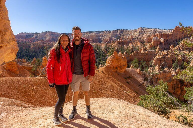 mark and kristen where are those morgans posing for photograph in bryce canyon national park but shadows make portraiture difficult