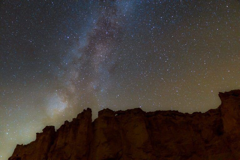 Milky Way and stars above Bryce Canyon astro photography