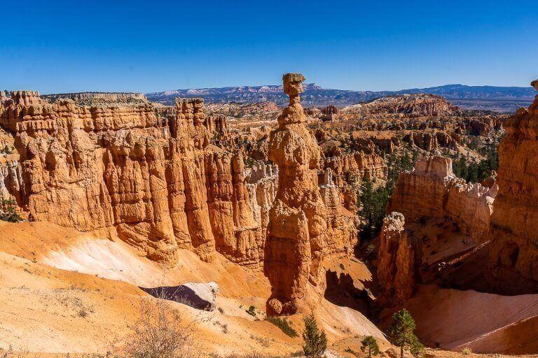 Thor's Hammer made of sandstone hoodoo rock formations in utah