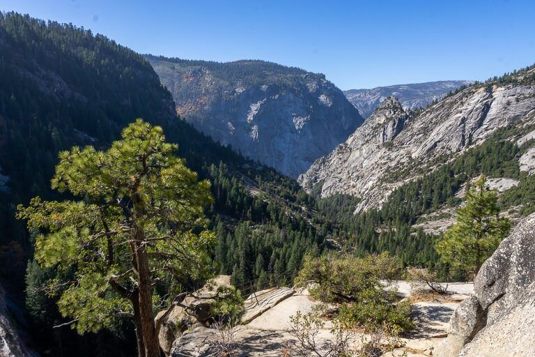 Yosemite National Park view from Nevada Fall