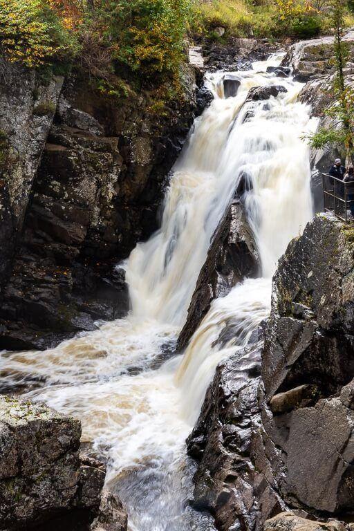 Close up of waterfall in adirondacks new york