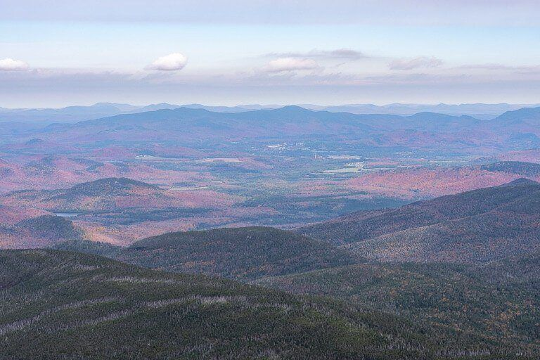 Gorgeous colors in the valley below mount marcy near lake placid in adirondacks new york