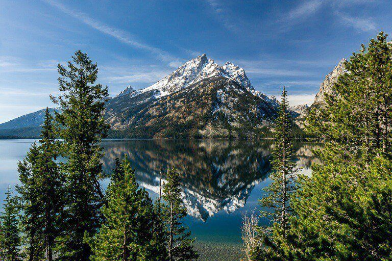 Grand Teton National Park Jenny Lake stunning mountain reflection