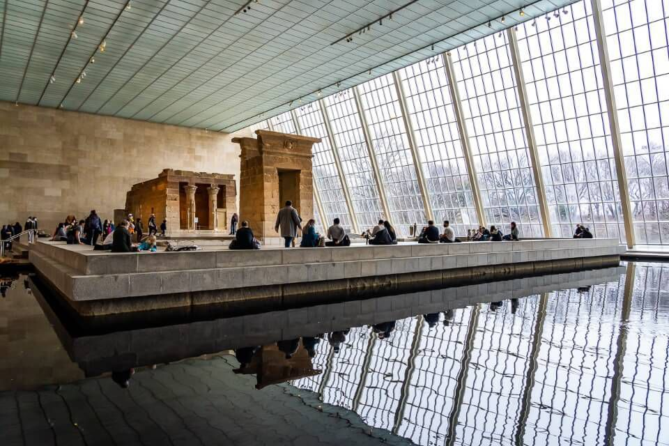 Escape the harsh cold of winter in central park nyc by exploring one of many museums like the Met egyptian exhibit