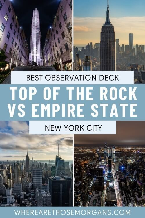 Best Observation Deck Top of the Rock vs Empire State Building New York City