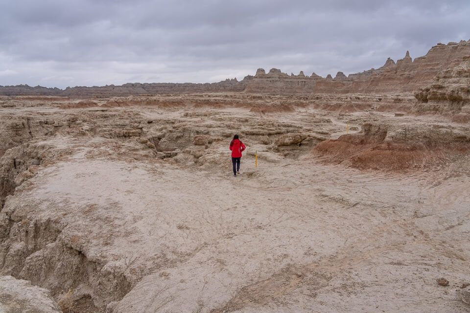 Hiking the Door trail hike in badlands national park best trail to get behind the wall
