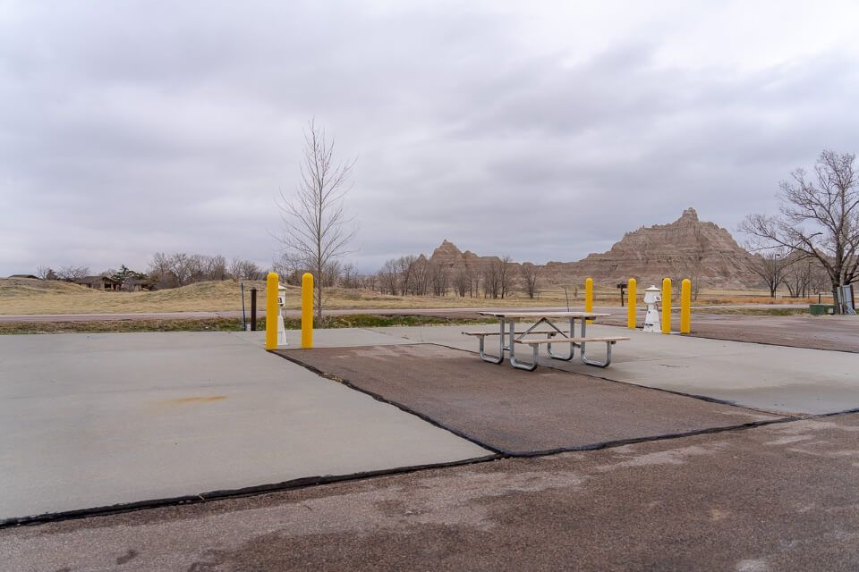 RV campground in Badlands National Park where to stay inside and near the park