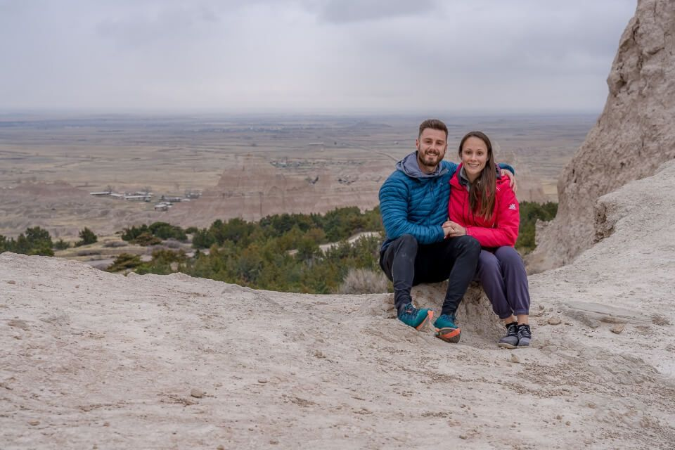 Where are those morgans at the notch trail overlook with awesome view behind in badlands national park sd