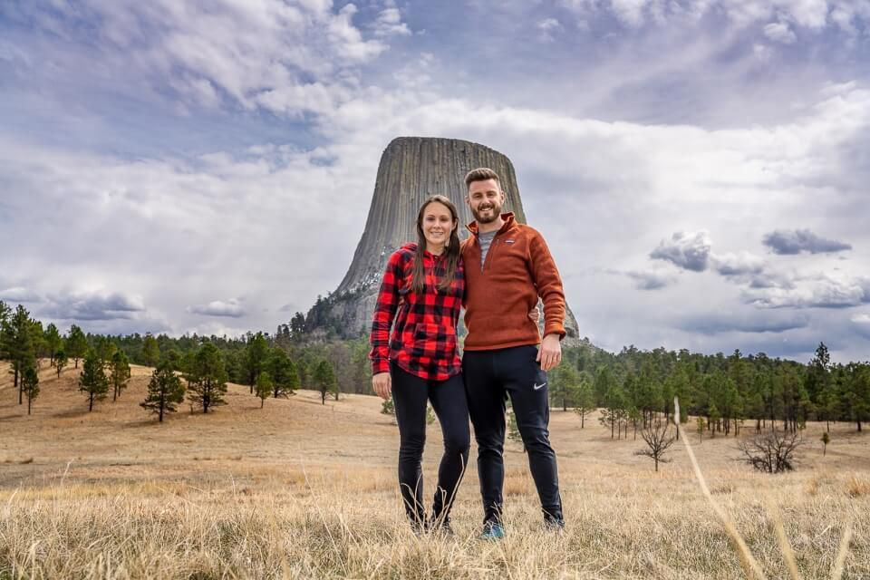 Where are those morgans at devils tower in wyoming joyner ridge trail with devils tower in background one of the best places to visit near mount Rushmore