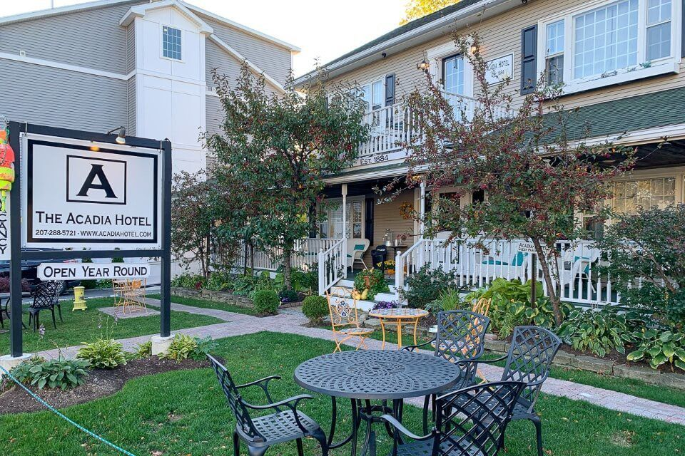 The Acadia Hotel in downtown bar harbor is a great choice for where to stay in acadia national park but it is expensive