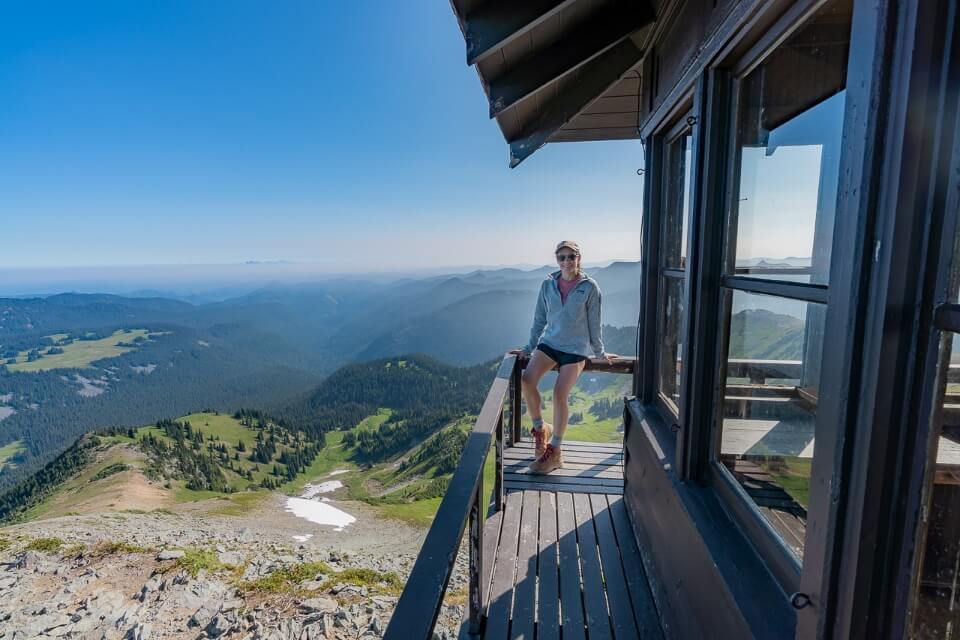 Fremont Watch Tower Mt Rainier National Park Washington trail with a view