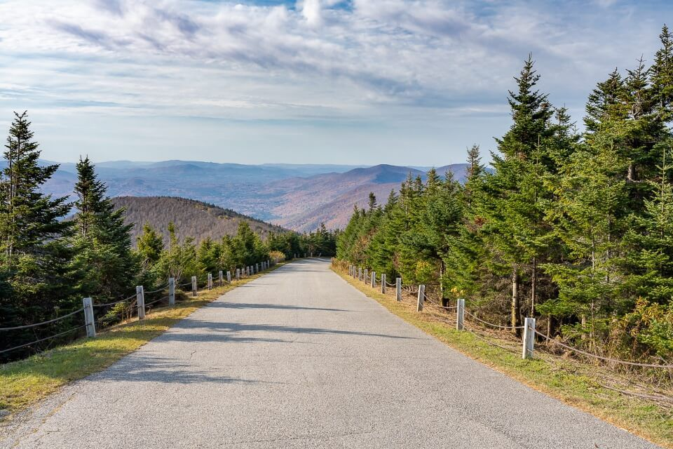 Driving the auto toll road to the summit of equinox mountain is one of the best things to do in manchester VT