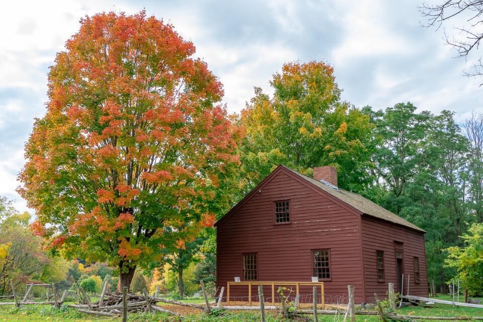 Ethan Allen Homestead Burlington VT gorgeous colors barn and trees