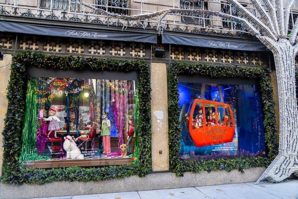 Saks Fifth Avenue holiday window display