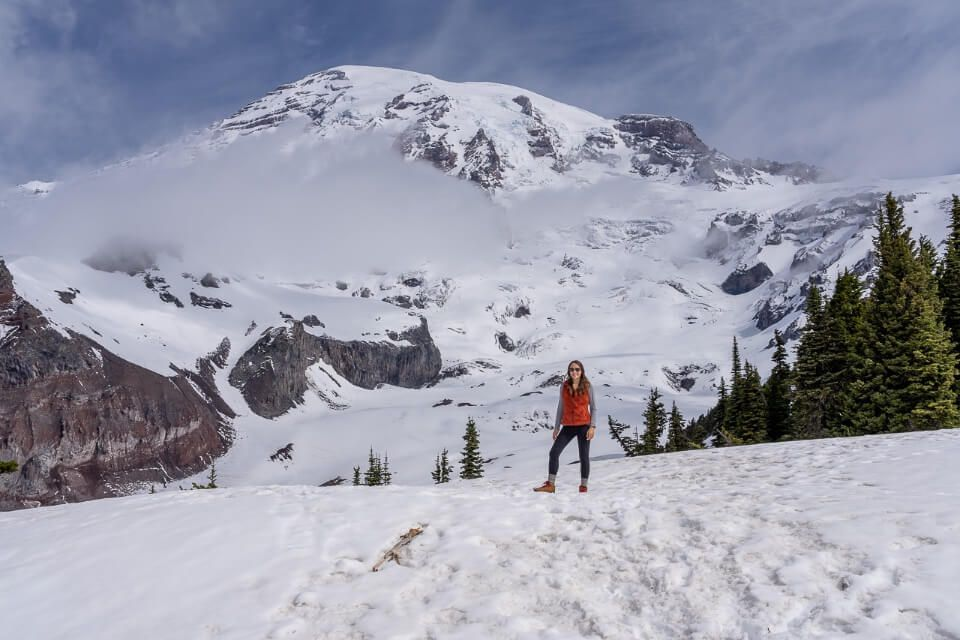 Where Are Those Morgans at the skyline trail in mt rainier national park under snow in june