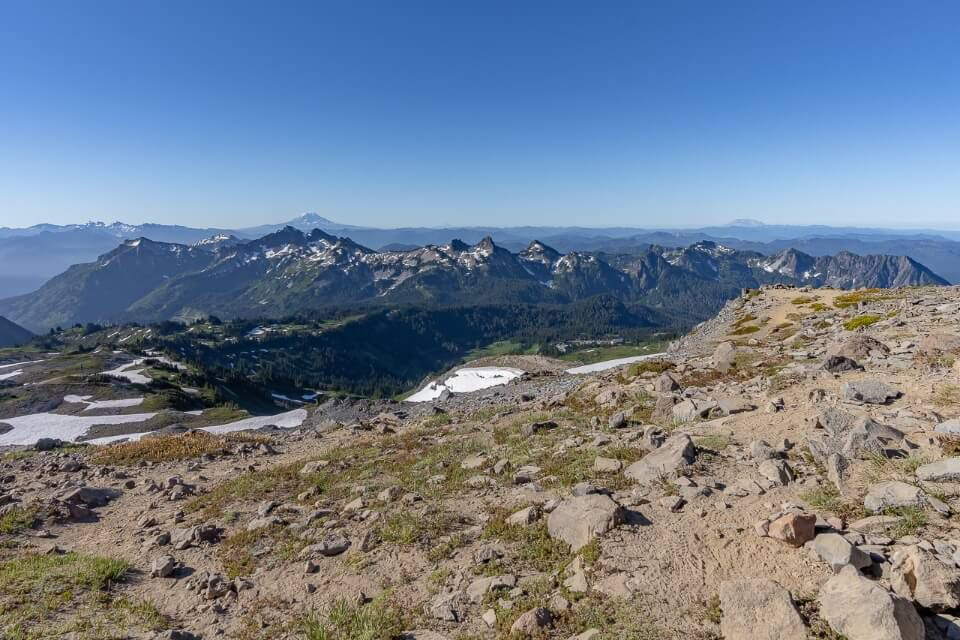 View over southern washington from the summit of mt rainier skyline trail