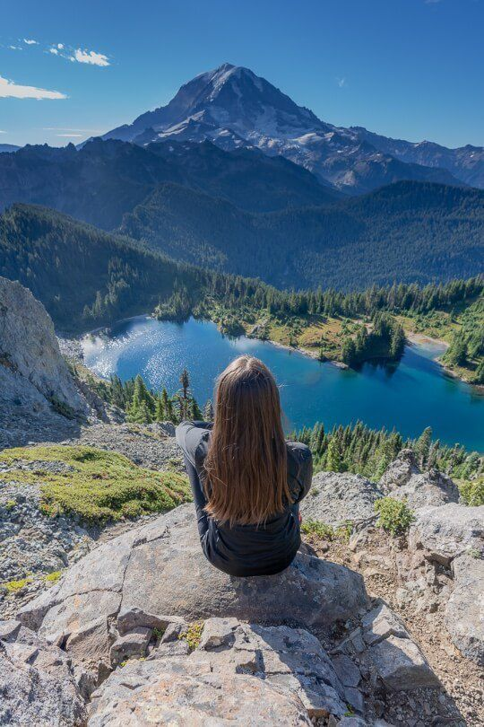 Where Are Those Morgans top of a mountain in washington looking at lake eunice