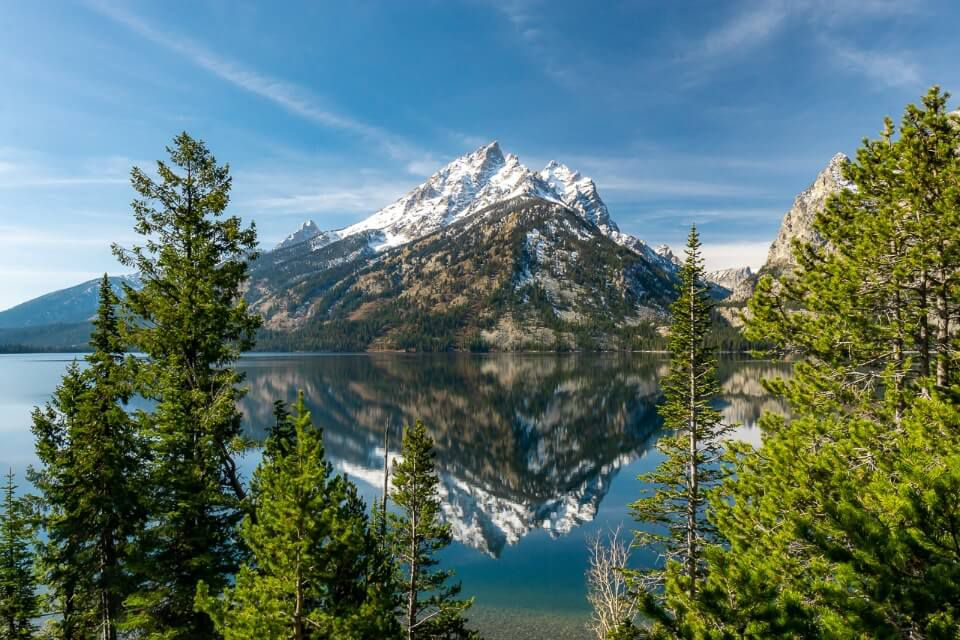 Grand Teton Jenny Lake not accessible in early spring