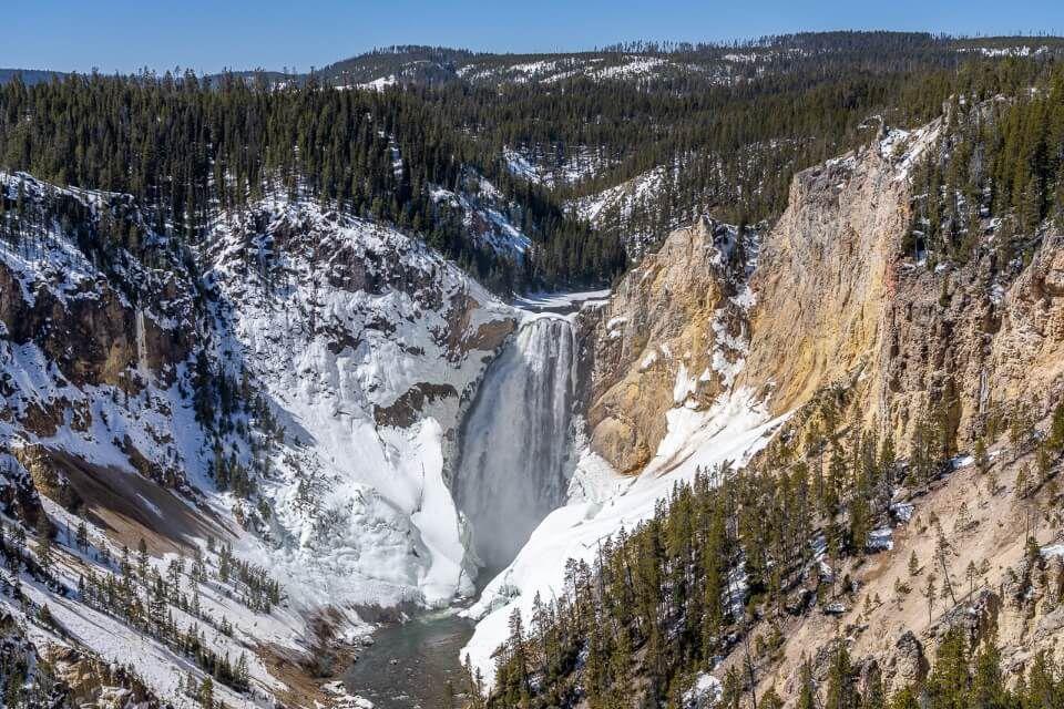 Waterfalls in peak in Spring with Winter snow melt