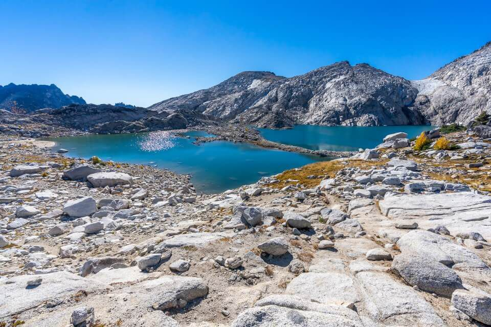 Upper Enchantments core granite rocks and isolation lake